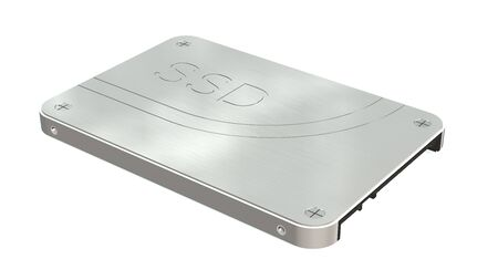 solid state: SSD drive - State solid drives isolated on white background