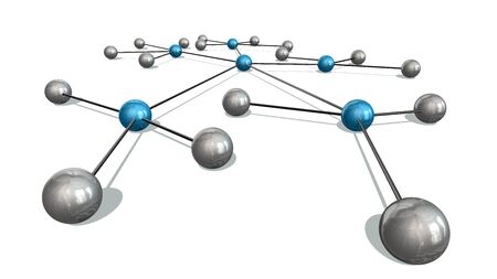globally: Concept of Network, social media, internet communication. 3d