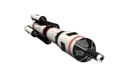 Space rocket - carrier rocket isolated on white Stock Photo