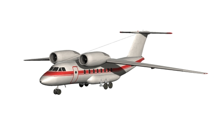 Airplane - Private Jet isolated on white