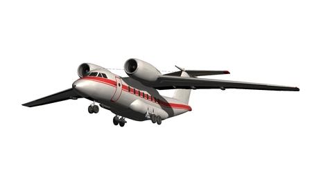 Flugzeug - Private Jet isoliert auf weiß Standard-Bild - 74173437