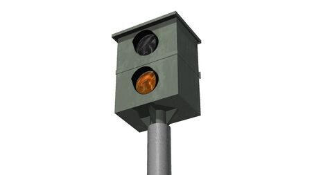 speed camera, speed trap isolated on white