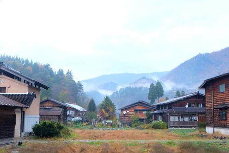 ogimachi: traditional village showcasing a building style known as gassh-zukuri Stock Photo