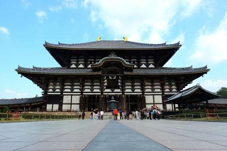 todaiji: Todai-ji temple in Nara, Japan