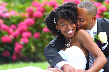 Black Couple Wedding Stock Photos And Images - 123RF