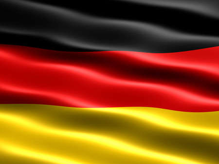 deutsch: Flag of Germany with silky appearance and waves