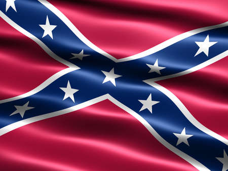 confederate: the Confederate ,  Rebel, or Dixie Flag Stock Photo