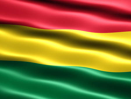silky: Flag of Bolivia, computer generated illustration with silky appearance and waves