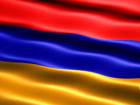 silky: Flag of Armenia, CG illu, with silky appearance and waves