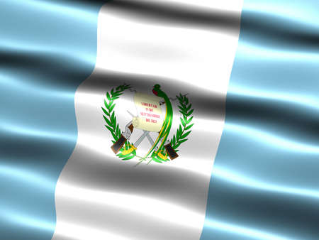 Flag of Guatemala, computer generated illustration with silky appearance and waves illustration
