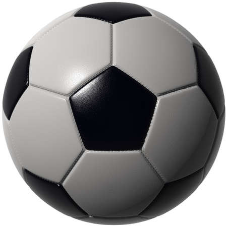 Soccer ball isolated over white. Hi-res, hi-quality 3D render with seams and leather structure. Includes path to use as alpha channel. Stock Photo - 6198393