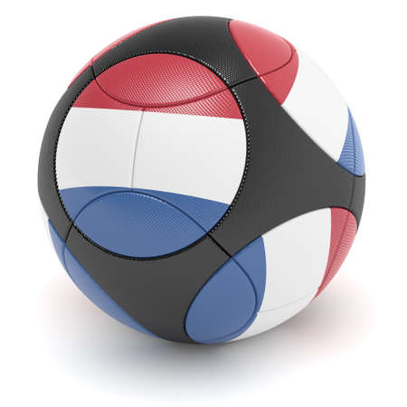 european championship: Soccer match ball of the 2012 European Championship with the flag of the Netherlands - clipping path included
