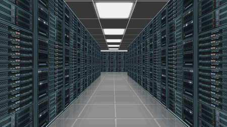 centro de computo: Centro servidor de datos Foto de archivo