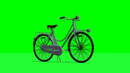 phonebox: bike - green screen