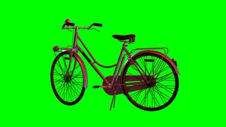 spoke: bike - green screen