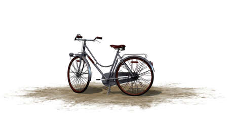 separated: bike  - separated on white background
