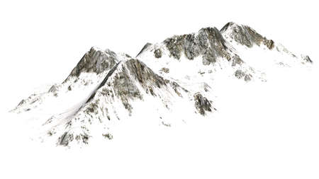 snowy mountains: Snowy Mountains - separated on white background