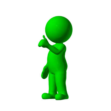 issue: green 3D People - agree 3 - isolated on white background