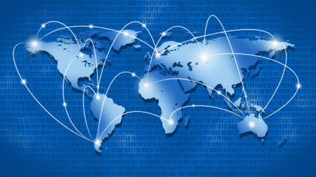 Internet or Business Concept of Global Network Stock Photo