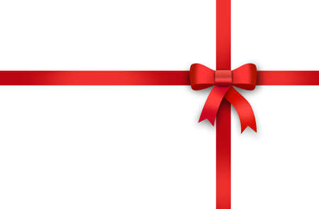 gift card, red ribbon, red loop, bow Stock fotó