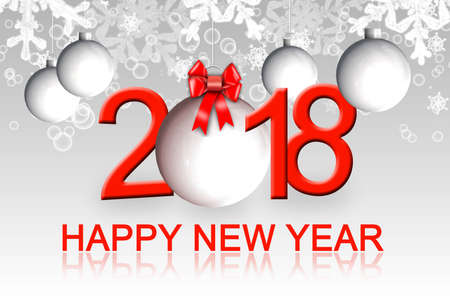 Happy New Year 2018 Greeting Card Stock Photo, Picture And Royalty ...