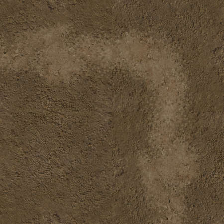 Sand dirt path curve - top view