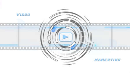 Video Marketing Online Business Concept on white background