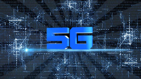 Creative 5G backdrop - Global network high speed network - Business concept