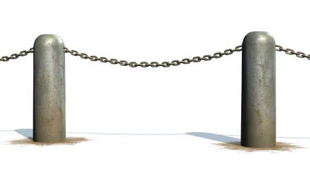 chains blockade - isolated on a white background