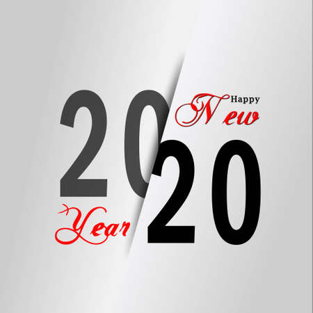 Year change 2020 with lettering Happy New Year - 3D illustration