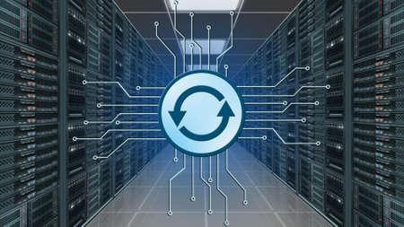 Update logo between information connecting lines