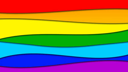 Abstract background of graphic elements in rainbow colors - 3D illustration
