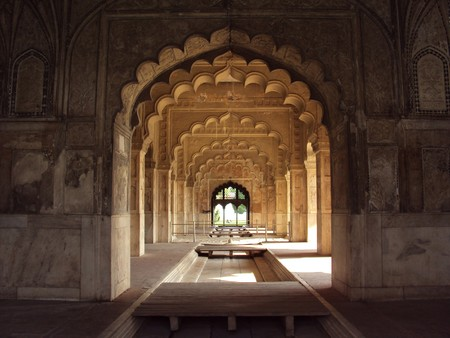 fortress: Rang Mahal of Red Fort in Delhi, India