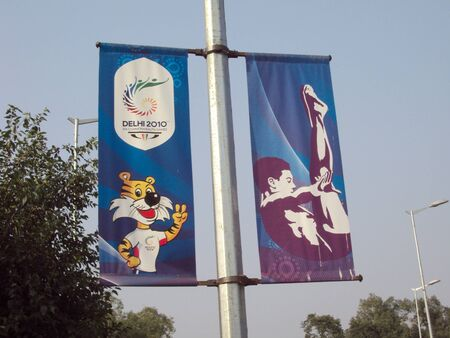 commonwealth: Commonwealth Games Banners All Over The City Of Delhi During Commonwealth Games 2010 Editorial