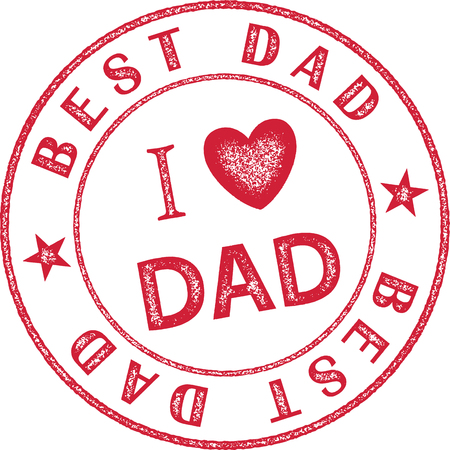 Best Dad Stamp themed for Fathers Day Illustration