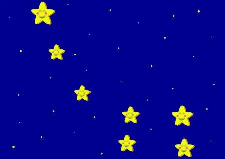 Toon representation of Ursa Minor Constellation 向量圖像