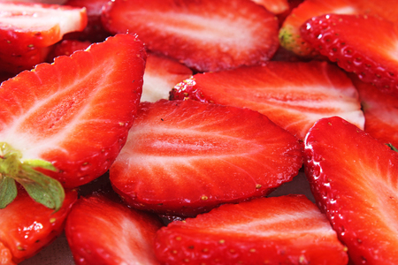 Strawberry background. Red whole strawberry as pattern texture. Strawberries.
