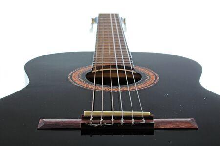 Guitar artsy POV background. Music illustration.