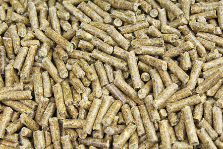 Granulated pet animal guinea pig hamster rabbit herb herbs food photo texture.