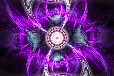 Animated fractal frequency space universe galaxy psychedelic music or for any other concept.. Stock Photo