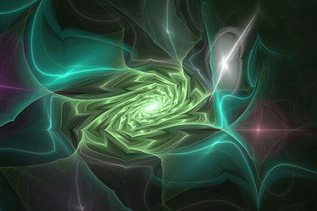 Animated Geometric fractal shape can illustrate daydreaming imagination psychedelic space dreams magic nuclear explosion frequency patterns radiation concepts.