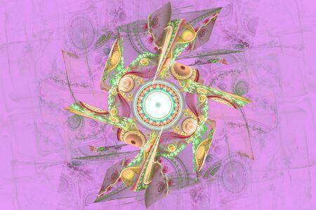 Pink purple fractal fraktal geometric pattern wallpaper art artsy background cover flyer pattern