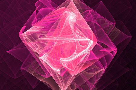 Pink purple fractal fraktal geometric pattern wallpaper art artsy background cover flyer girly pattern 免版税图像