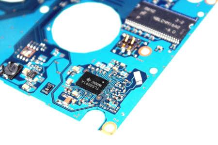 miniaturization: Technology - Circuit Board Stock Photo
