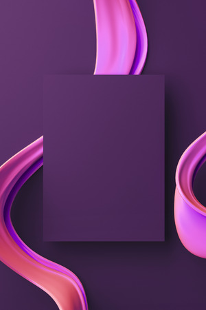 Futuristic 3d illustration. Abstract modern dynamic background. Stock Photo