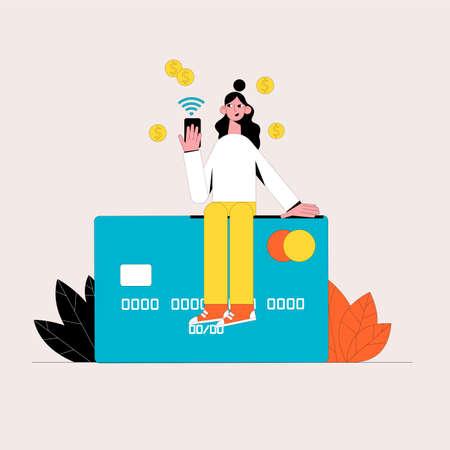 Online shopping. Business concept. Vector illustration. Ilustrace