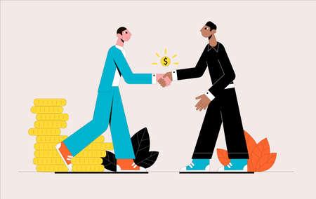 Business partnership. Business concept. Vector illustration.