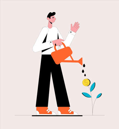 Business growth concept. Vector illustration. Ilustrace