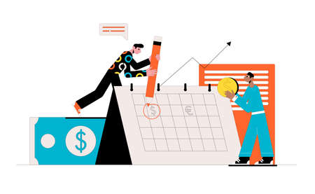Currency rate statistics. Business concept. Vector illustration.