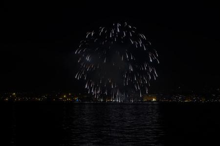 Thessaloniki, Greece New Years Eve 2017 fireworks.